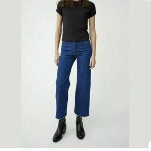 Re/Done Originals Wide Leg Crop Jeans